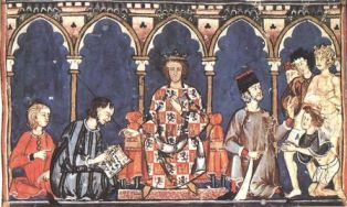 Alfonso X of Castile from the Libro des Juegas